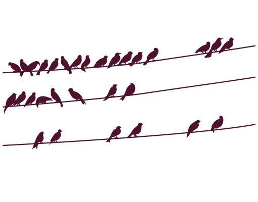 Wandtattoo Vögel No.IS21 Vogelschar