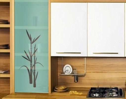 Fensterfolie - Sichtschutzfolie No.8 Bambus III - Milchglasfolie