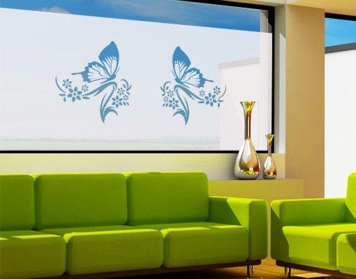 Fensterfolie - Sichtschutzfolie No.9 Schmetterling I - Milchglasfolie