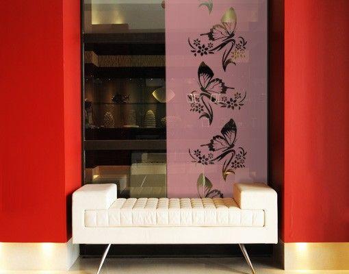 Fensterfolie - Sichtschutzfolie No.9 Schmetterling III - Milchglasfolie