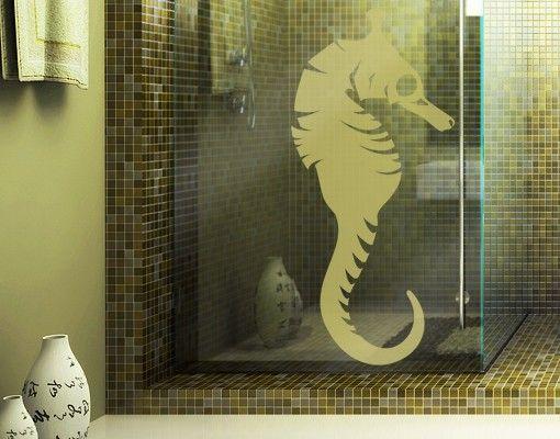Fensterfolie - Fenstertattoo No.IS31 Seepferdchen - Milchglasfolie