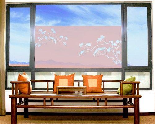 Fensterfolie - Sichtschutzfolie No.113 Japanische Bäume I - Milchglasfolie