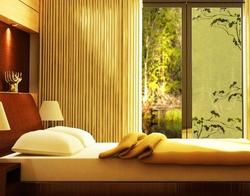 Fensterfolie - Sichtschutzfolie No.113 Japanische Bäume III - Milchglasfolie
