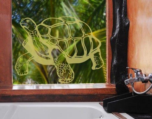 Fensterfolie - Fenstertattoo No.EG11 Schildkröte - Milchglasfolie