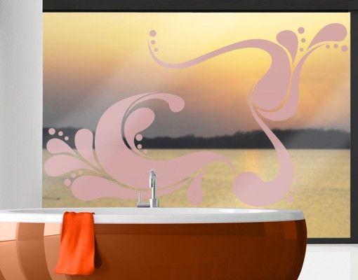 Fensterfolie - Fenstertattoo No.IS43 Retro Wave - Milchglasfolie