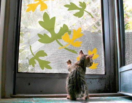 Fensterfolie - Fenstersticker No.CG31 Laub - Fensterbilder