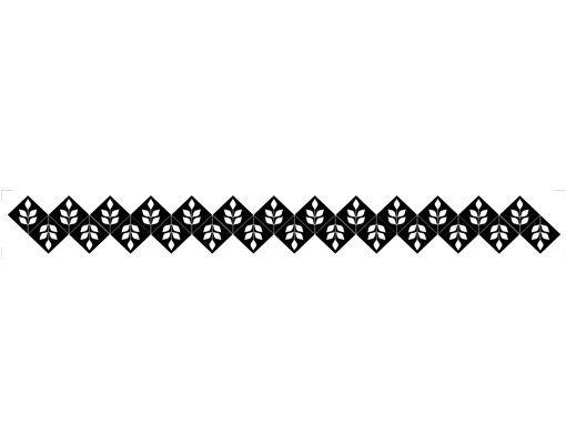Fensterfolie - Fenstertattoo Bordüre No.994 Leaves IV - Milchglasfolie