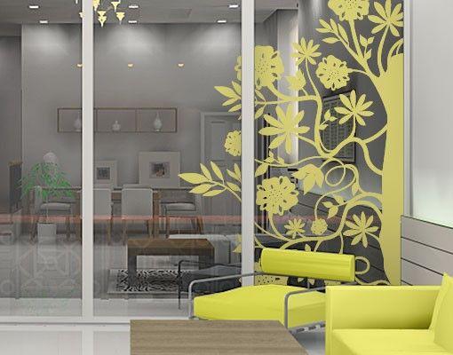 Fensterfolie - Fenstertattoo - No.TA79 Floral Corner - Fensterbilder Frühling