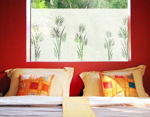 Fensterfolie - Sichtschutzfolie No.360 Palmenzweig I - Milchglasfolie