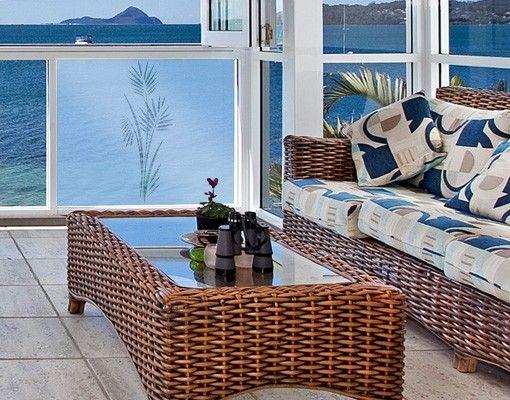 Fensterfolie - Fenstertattoo Bild No.360 Palmenzweig II - Milchglasfolie