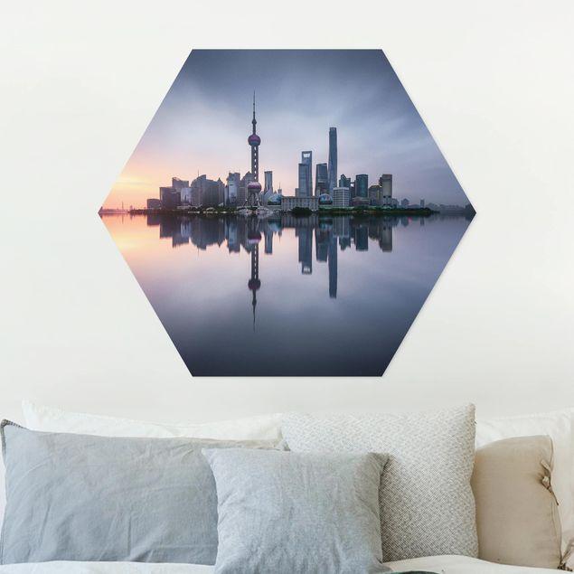 Hexagon Bild Forex - Shanghai Skyline Morgenstimmung