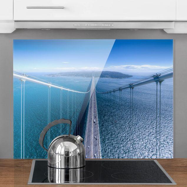 Glas Spritzschutz - Brücke zur Insel - Querformat - 4:3
