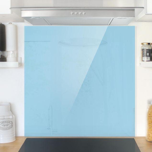 Glas Spritzschutz - Pastellblau - Quadrat - 1:1