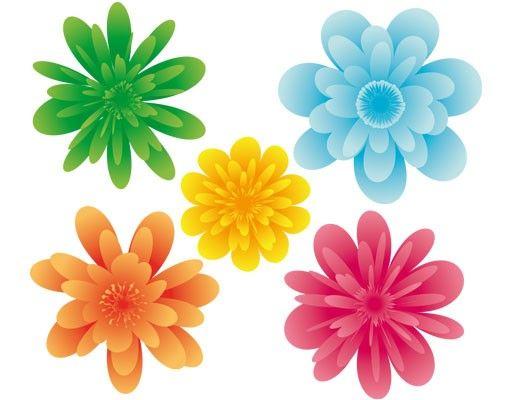 Fensterfolie - Fenstersticker No.EG22 Sommerblüten - Fensterbilder