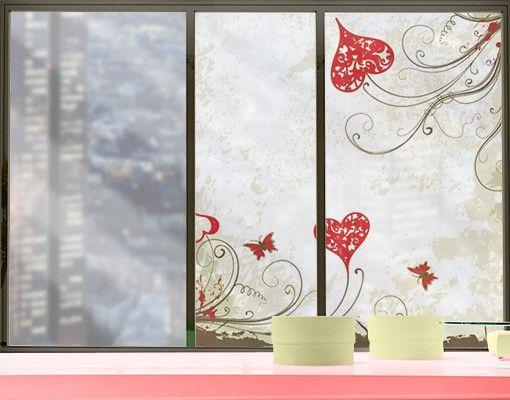 Fensterfolie - Sichtschutz Fenster Heart Background - Fensterbilder