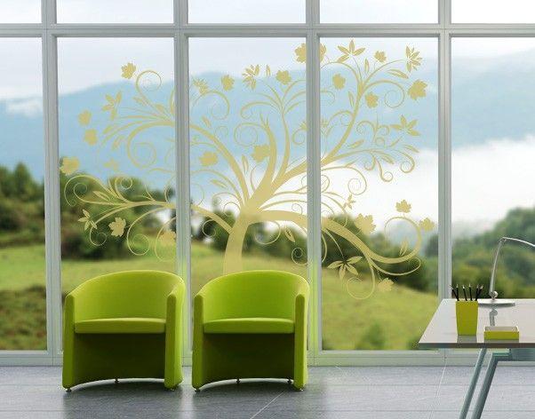 Fensterfolie - Fenstertattoo No.48 Zauber Baum - Milchglasfolie