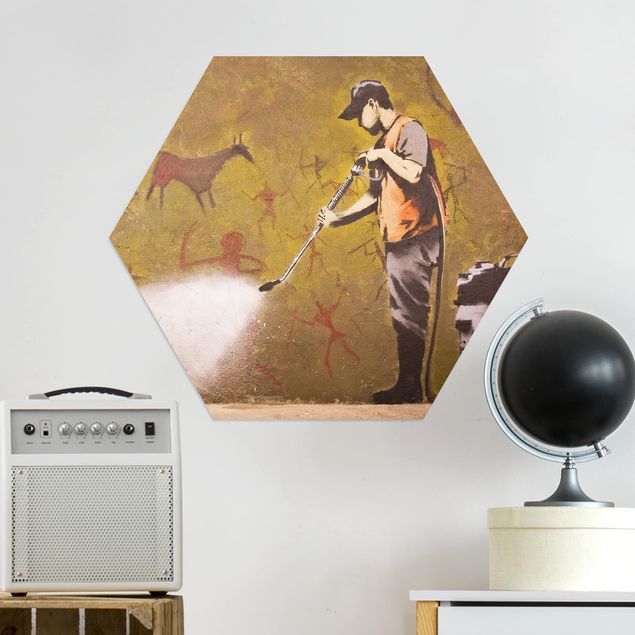 Hexagon Bild Alu-Dibond - Wash History away