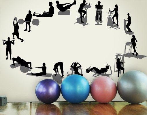 Wandtattoo No.469 Fitness Set