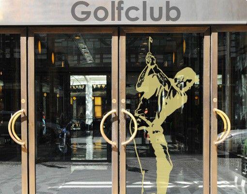 Fensterfolie - Fenstertattoo No.817 Golfer - Milchglasfolie
