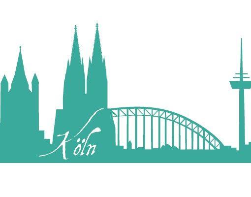 Wandtattoo Skyline No.FB20 Köln Skyline I