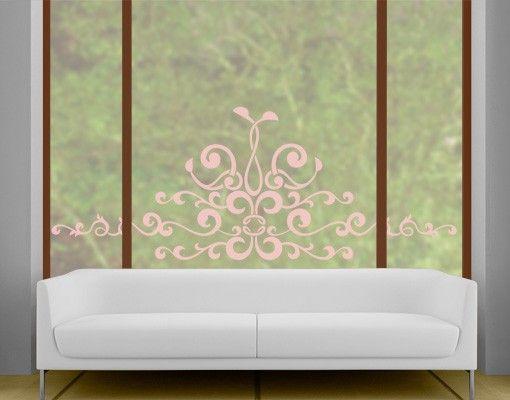 Fensterfolie - Fenstertattoo No.CG147 Royal Ornament - Milchglasfolie