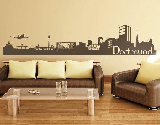 Wandtattoo No.831 Dortmund Skyline II