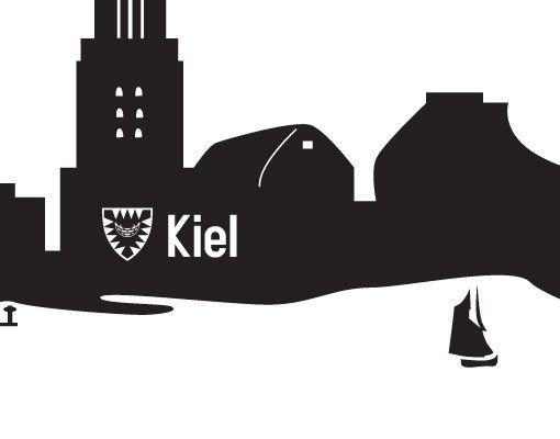 Wandtattoo Skyline No.JO79 Kiel