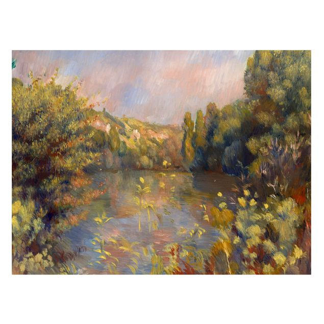 Magnettafel - Auguste Renoir - Landschaft mit See - Memoboard Querformat 3:4