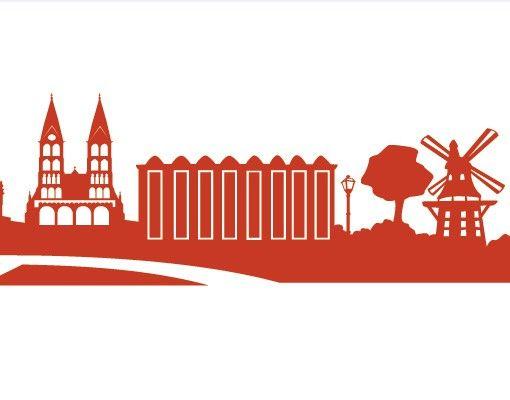 Stadt Bremen - Wandtattoo Skyline - No.FB23 Bremen Skyline I