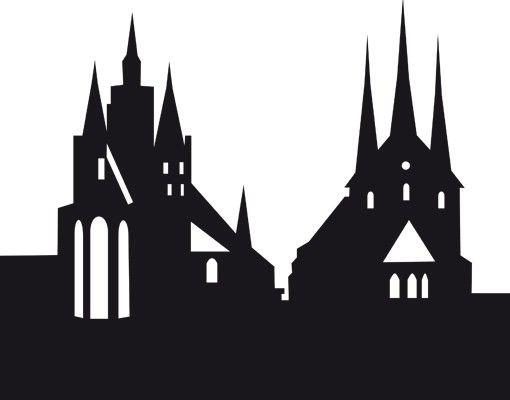 Stadt Erfurt - Wandtattoo Skyline - No.EG41 Erfurt Skyline l