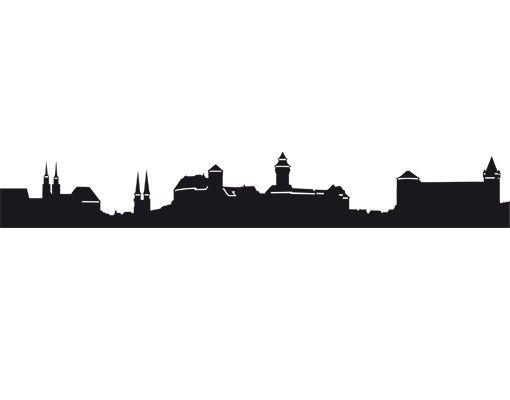 Stadt Nürnberg - Wandtattoo Skyline - No.EG39 Nürnberg Skyline I
