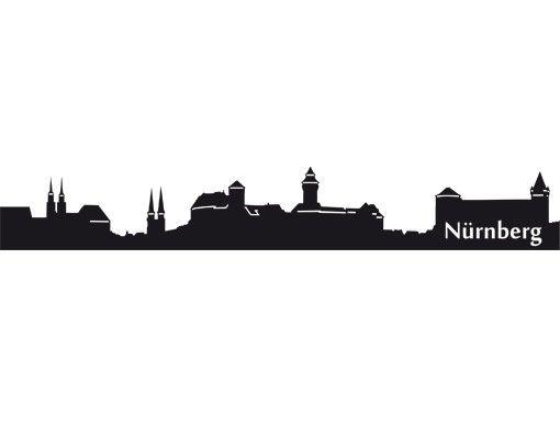 Wandtattoo Skyline No.EG40 Nürnberg Skyline II