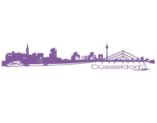 Stadt Düsseldorf - Wandtattoo Skyline - No.FB25 Düsseldorf Skyline II