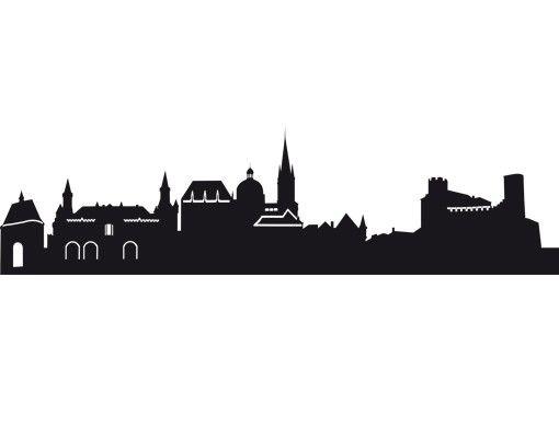 Stadt Aachen - Wandtattoo Skyline - No.EG43 Aachen Skyline l