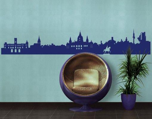 Wandtattoo Skyline No.FB28 Hannover Skyline II