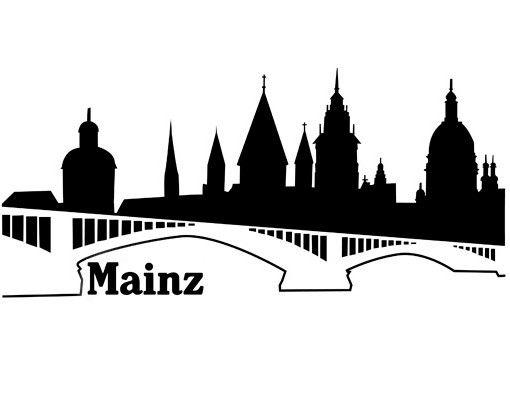 Stadt Mainz - Wandtattoo Skyline - No.ML10 Mainz Skyline II