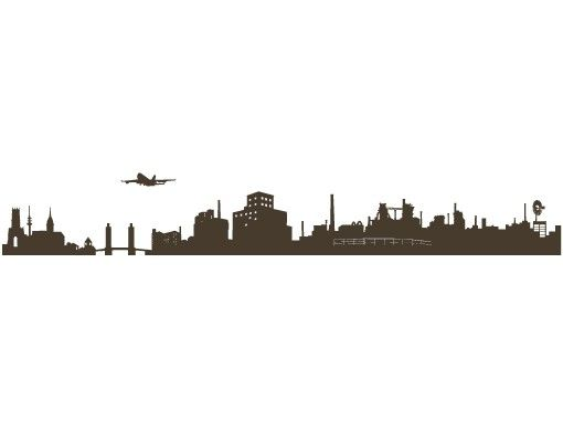 Stadt Duisburg - Wandtattoo Skyline - No.FB36 Duisburg Skyline II