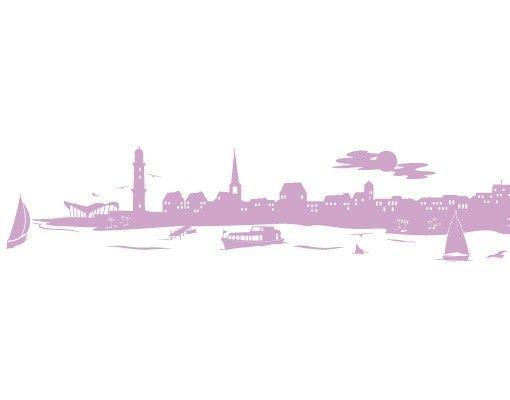 Stadt Rostock - Wandtattoo Skyline - No.FB40 Rostock Skyline II