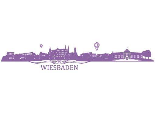 Wandtattoo Skyline No.FB41 Wiesbaden Skyline I