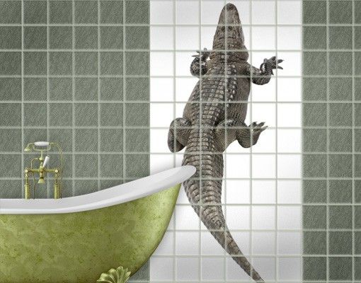 Fliesenbild - The Crocodile Back