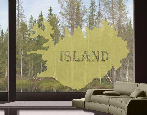 Fensterfolie - Fenstertattoo No.468 Island - Milchglasfolie