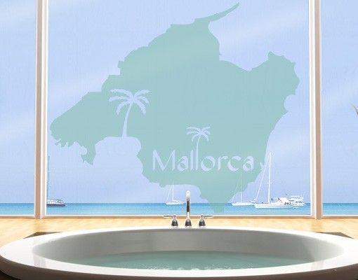 Fensterfolie - Fenstertattoo No.477 Mallorca - Milchglasfolie