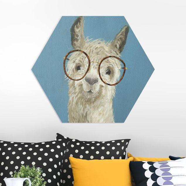 Hexagon Bild Forex - Lama mit Brille I