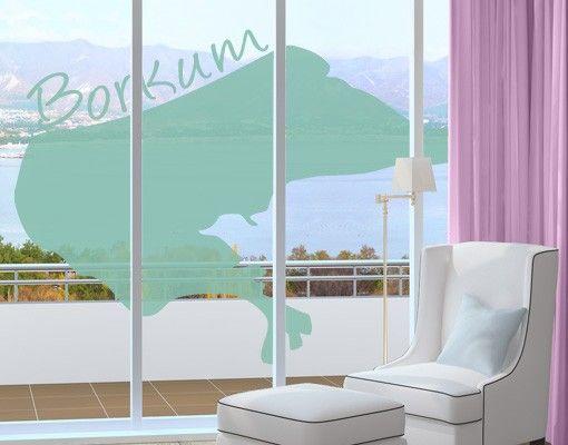 Fensterfolie - Fenstertattoo No.465 Borkum - Milchglasfolie