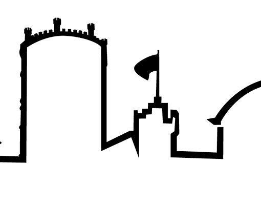 Stadt Jena - Wandtattoo Skyline - No.732 Jena Wandtattoo