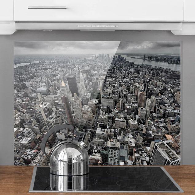 Glas Spritzschutz - Blick über Manhattan - Querformat - 4:3