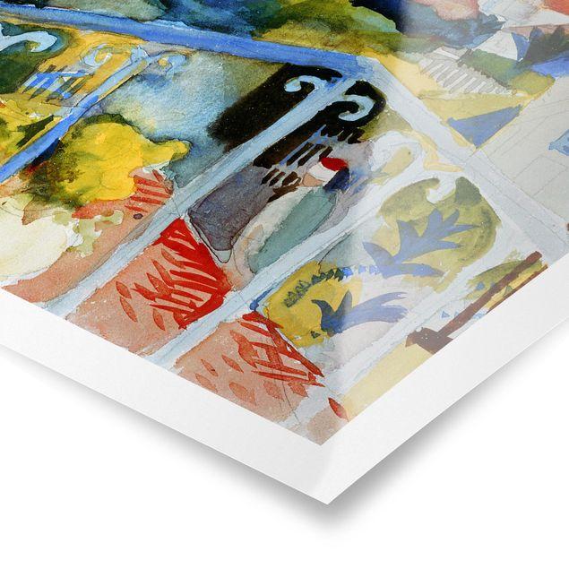 Poster - August Macke - Saint Germain bei Tunis - Hochformat 3:4