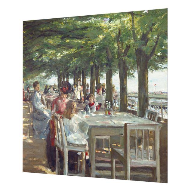 Glas Spritzschutz - Ma: Liebermann - Terrasse des Restaurants Jacob - Quadrat - 1:1