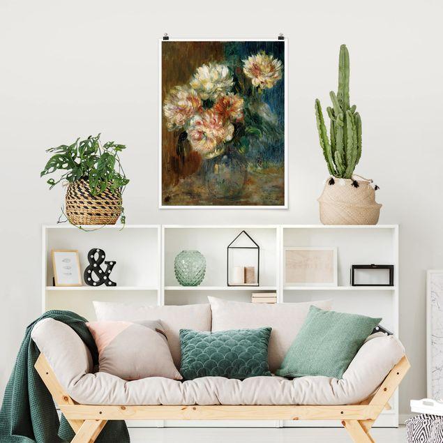 Poster - Auguste Renoir - Vase Pfingstrosen - Hochformat 3:4