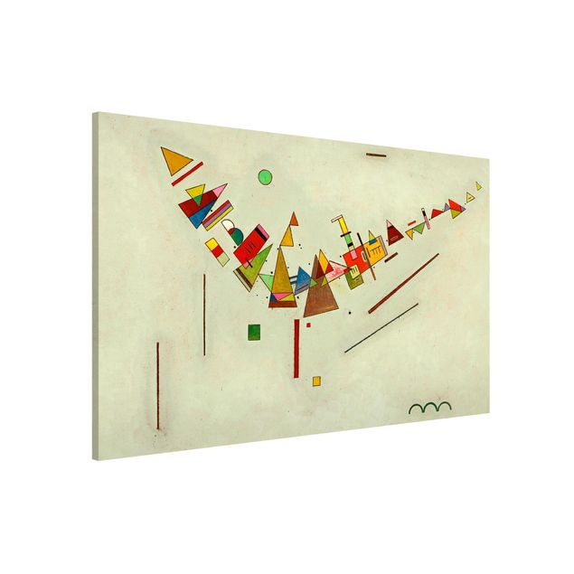 Magnettafel - Wassily Kandinsky - Winkelschwung - Memoboard Querformat 2:3